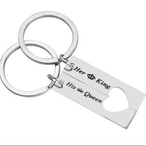 2pc Couples King Queen Keychain Set